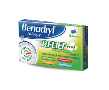BENADRYL® Allergy Relief Plus Decongestant