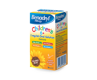 BENADRYL® Children's 6+ Allergy Relief 1