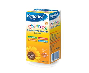 BENADRYL® Allergy Children's 1mg/ml Oral Solution