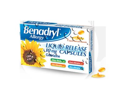 BENADRYL® Allergy Liquid Release Capsules